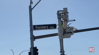 Signs installed at Raiders Way in Henderson – VIDEO
