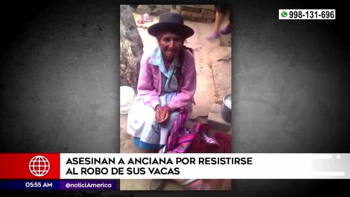 Ayacucho: ladrones asesinan a anciana para robarle sus seis vacas