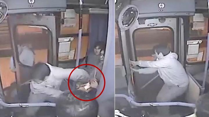 Se bussraneren dumme seg ut