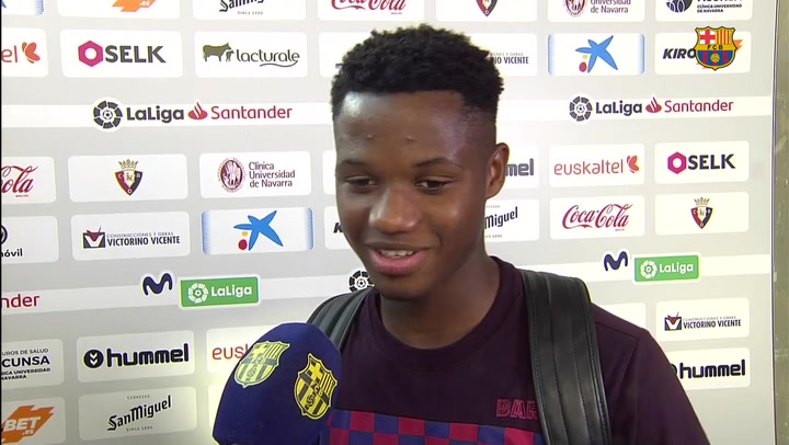 Las declaraciones de Ansu Fati tras su primer gol con el Barça