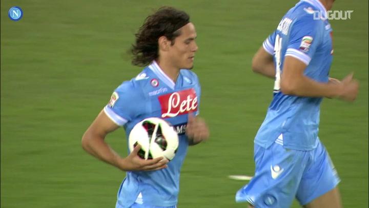 Edinson Cavani's final Napoli goal