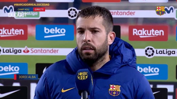 Jordi Alba: 'This victory gives us confidence'