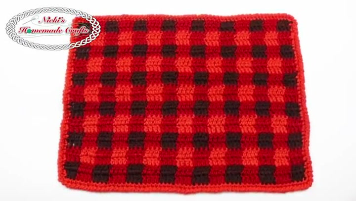 How To Crochet A Plaid Placemat