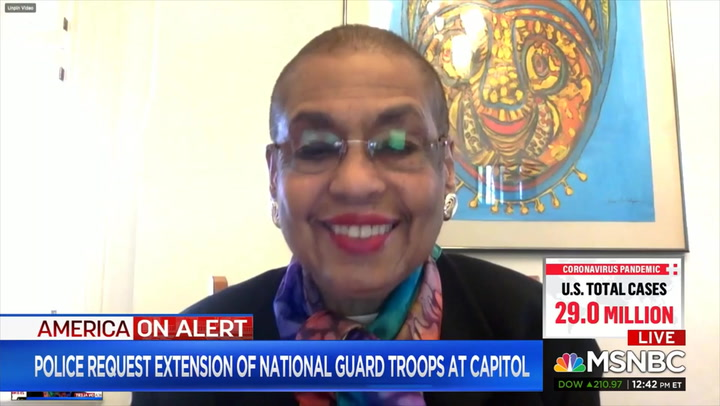 Holmes Norton: Capitol Security 'Approaching Being Overdone' - 'Can't Keep Being Afraid in Our Own Capitol of Our Own People'
