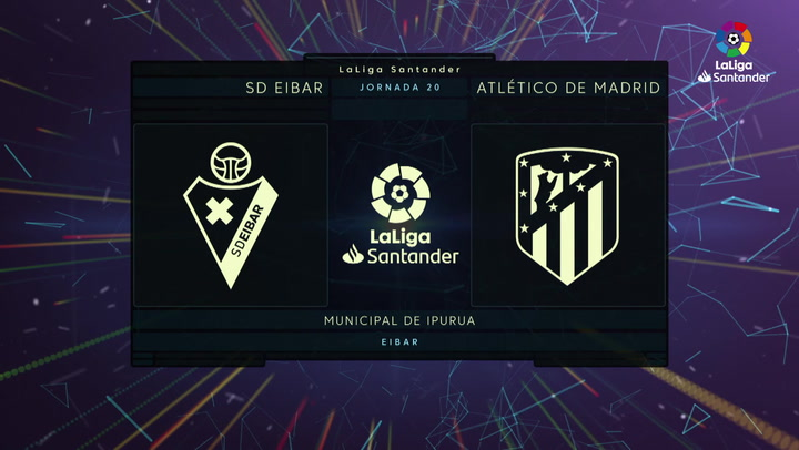 LaLiga (J20): Resumen y goles del Eibar 2-0 Atlético