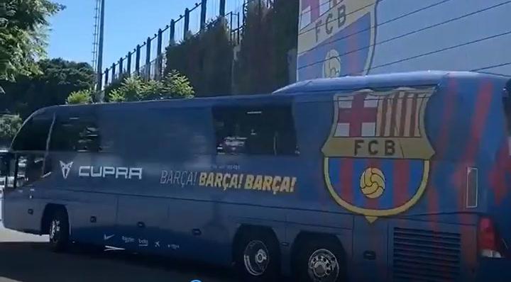 El autocar del Barça ya está camino de Castellón