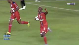 Rubilio Castillo se estrena como goleador del Royal Pari en la Copa Libertadores y le marca al Guaraní