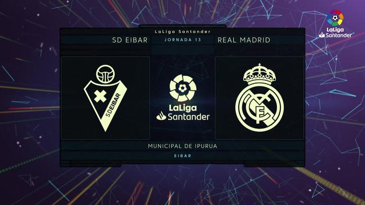 LaLiga (J13): Resumen y goles del Eibar 0-4 Real Madrid