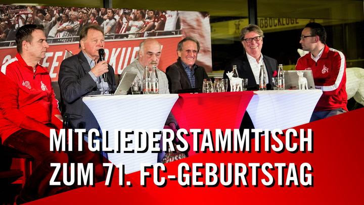 Mitgliederstammtisch zum 71. FC-Geburtstag