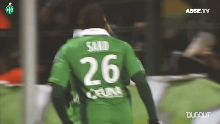 Aubameyang's first hat-trick of his career vs Lorient