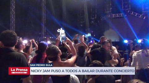 Nicky Jam puso a todos a bailar durante concierto en Honduras