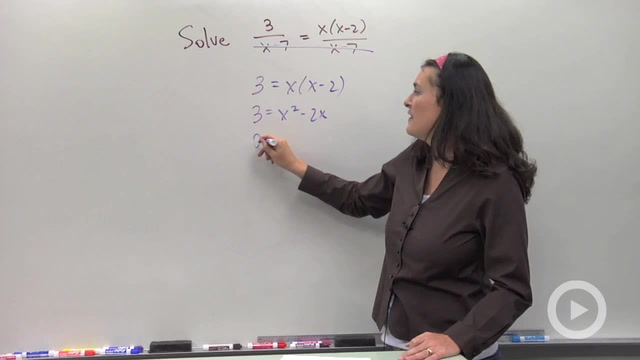 Solving Rational Equations with Like Denominators - Problem 3