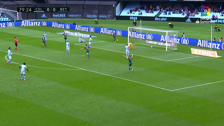 LaLiga: Celta - Betis (0-1). Gol de Jesé (0-1)