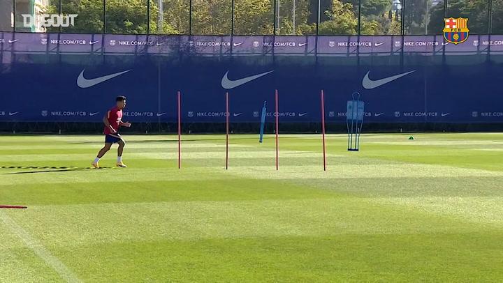 Coutinho returns to pre-season training at Barça