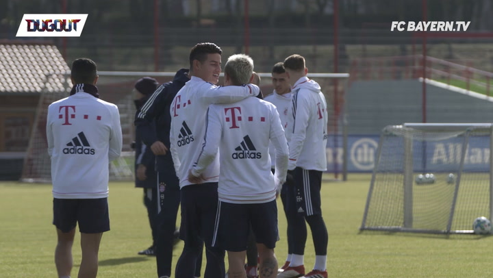 James Rodríguez is back in team training!