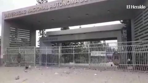 Cerradas las instalaciones de la UNAH en Tegucigalpa