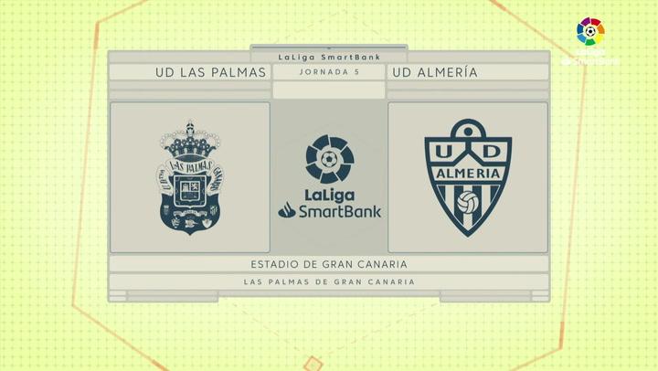 LaLiga SmartBank (J5): Resumen y goles del Las Palmas 0-3 Almería