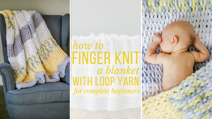 How to Finger Knit the Twisted Rope Blanket with Loop Yarn