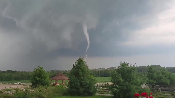 Tornado spotted forming before causing 'catastrophic' destruction to city