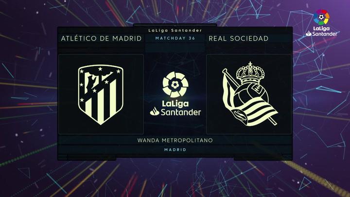 LaLiga Santander (Jornada 36): Atlético 2-1 Real Sociedad