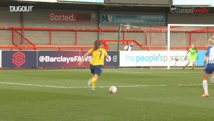 Jill Roord double helps Arsenal Women hit four past Brighton