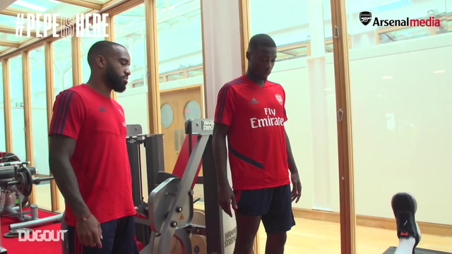 Alexandre Lacazette Shows Nicolas Pépé The Ropes
