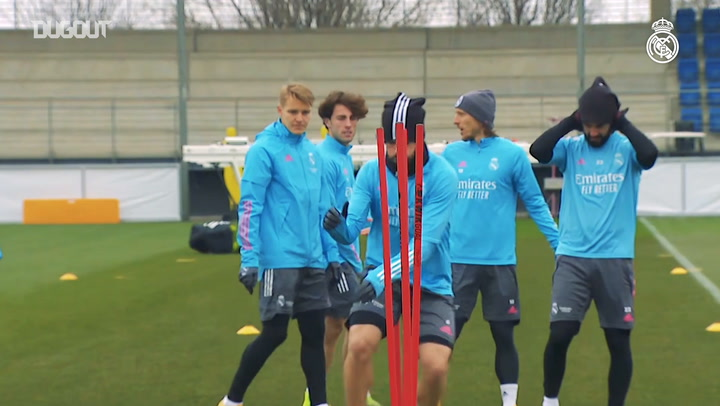 Real Madrid continue preparations ahead of Osasuna