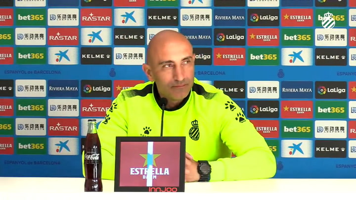 La rueda de prensa de Abelardo (Espanyol), previa al partido contra el Sevilla