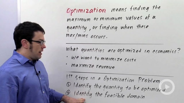 Optimization Problems: Applications to Economics
