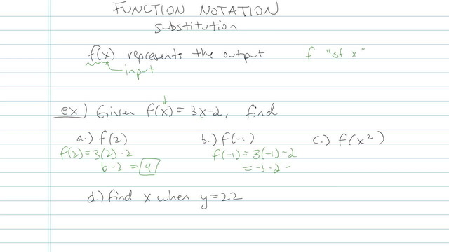 Function Notation - Problem 7