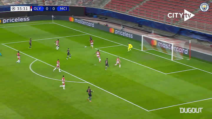 Sterling's superb backheel sets up Foden vs Olympiacos