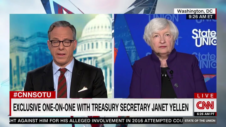 Treasury Sec. Yellen: Inflation Will Get Back to the 2% Range by Next Year