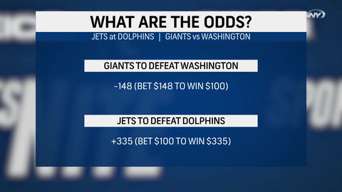 What are the odds on the Jets and Giants in Week 6?