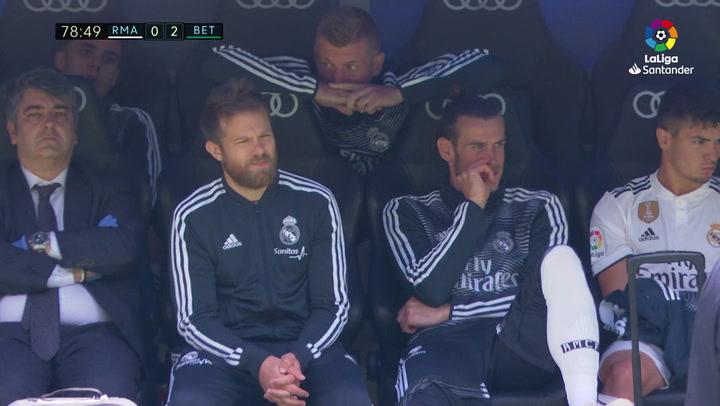LaLiga. Real Madrid - Betis. Gareth Bale se quedó en el banquillo sin jugar