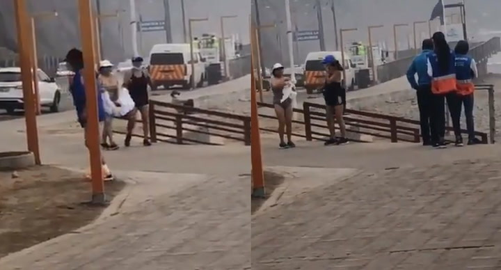 Miraflores: Mujer ingresó a la playa con tabla de picar y finge que es surfista | VIDEO