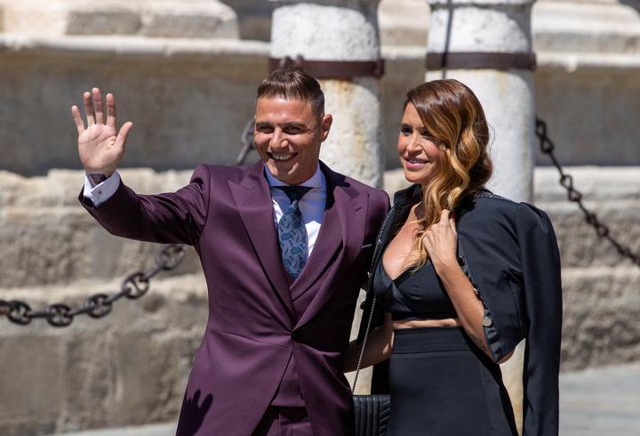 El 'autotroleo' de Joaquín por su traje en la boda de Ramos