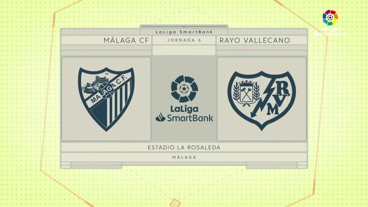 LaLiga SmartBank (J6): Resumen y goles del Málaga 1-1 Rayo Vallecano
