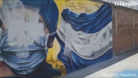 Mural que rendía honor a personal contra la lucha contra el covid-19 fue manchado