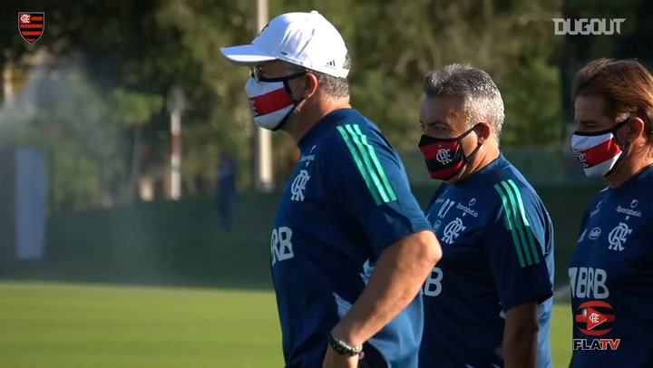 Domenec Torrent's first training session with Flamengo