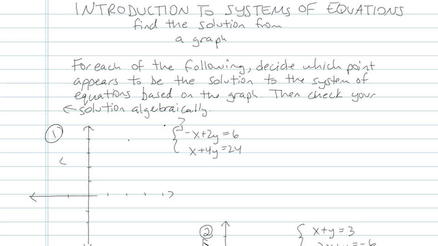 Introduction to Systems of Equations - Problem 3