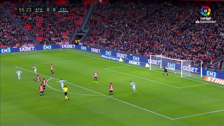 Gol de Rafinha (0-1) en el Athletic 1-1 Celta