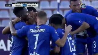 Bryan Moya anota su sexto gol con el Zulia en la Liga de Venezuela
