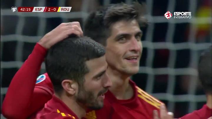 Gol de Gerard Moreno en el España - Rumanía (3-0)