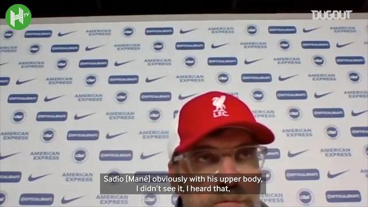 Jürgen Klopp discusses VAR decisions against Brighton