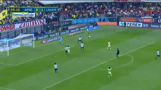 Roger Martínez anota golazo acrobático ante Pumas en la semifinal de la Liga MX