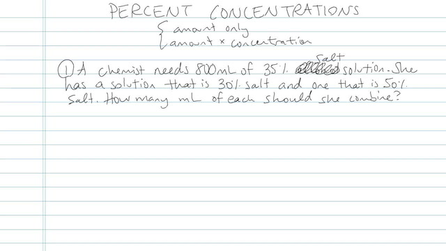 Percent Concentrations - Problem 4