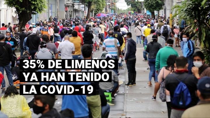 Minsa: el 35% de la población de Lima Metropolitana ya ha tenido la COVID-19