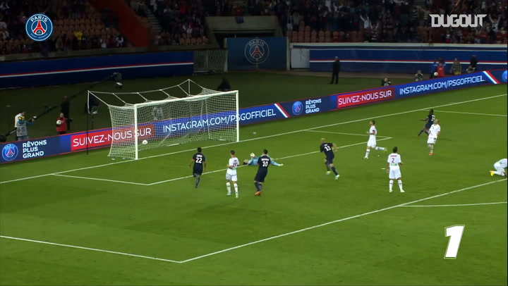Edinson Cavani's 200 goals for Paris Saint-Germain