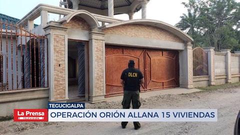 Operación Orión allana 15 viviendas