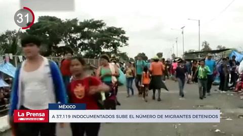 Noticiero: A 37,119 sube el número de indocumentados detenidos